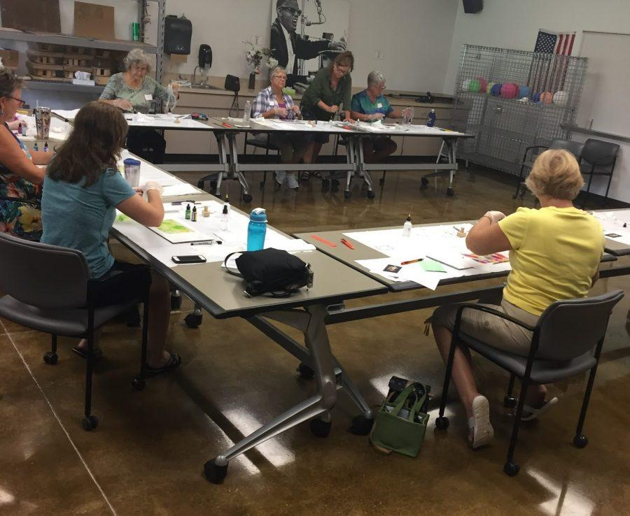 ALCOHOL INKS ART WORKSHOP AT THE CITRUS CAMPUS